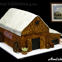 Amish Barn Customer Loved Amish Barns So The Inspiration For This Cake Was Taken From The Picture Off His Office Wall Amish Barn. customer, loved amish Barns, so the inspiration for this cake was taken from the picture off his office wall.