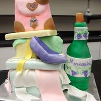 Girl's Night Party I made this cake in the Wilton Cake Sculpting class. It was an excellent class!!