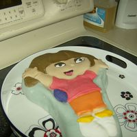 Dora Birthday Cake my first full fondant cake!