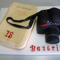 Canon Camera And Book