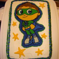 Super Why Frozen Buttercream Transfer   This was my 1st attempt at a FBCT and I was really pleased with the end result, so was my son!