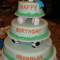 Baseball Soccer Football Cake With Gumpaste Referee