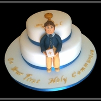 Daniels Communion two tiered communion cake