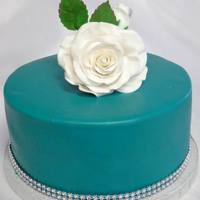 Birthday Cake Turquoise Color With Some Black To Deepen It Simple Rose Birthday Lady Loved It Birthday cake - turquoise color with some black to deepen it. Simple rose. birthday lady loved it.