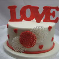 Another Test Cake For Valentines Day Another test cake for Valentine's day