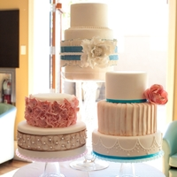 Trio Three wedding cakes......