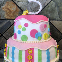 Gum Drop Birthday Birthday cake for a swwet 5 yr old girl. Used the dome top pans!