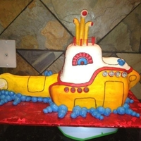 Yellow Submarine My client did not want fondant so this cake is made of butter cream! I kind of wish I could have used fondant to make it perfect but butter...