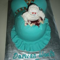 Ghouly, Gorey Baby Shower Cake   Halloween themed baby shower.
