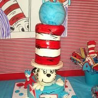 The Cat In The Hat Both butter cream and Fondant all cake except the head which is styrofoam covered with fondant. I used styrofoam for the head to give it...