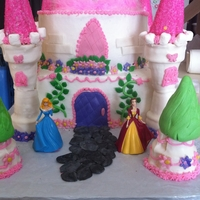 Castle Princess castle ButterCream with fondant accents