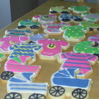 Baby Shower Cookies   Used the Wilton baby cookie cutters. NFSC with RI