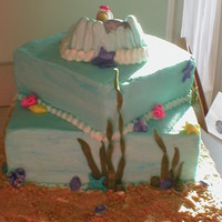 Baby Mermaid   Baby Shower cake for a friend - her daughter's nursery was decorated in ocean theme.