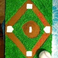 Baseball 2011 Season All buttercream cake.
