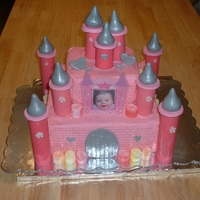 Kallie's 1St Birthday Cake Princess castle for Kallie. The columns are solid chocolate. This was a fun cake to make, although I prefer fondant to buttercream any day...