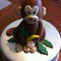 Monkey Cake Topper All fondant. For baby shower
