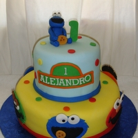 "Sesame Street Cake 6"" and 10"" covered in fondant and all decorations are fondant. TFL!"