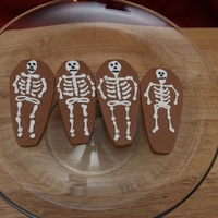 Day Of The Dead Cookies Lemon cream cheese cut outs with RI