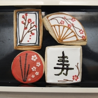 Asian Themed Birthday Cookies