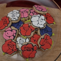 Rose Cookies Shortbread roses with RI