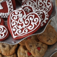Red Velvet Valentine Cookies