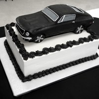 Rear And Front View Of Mustang Groom's Cake