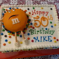 "Mike's 50Th Celebration  Made this Strawberry cake with cream cheese buttercream for my brother's 50th birthday celebration. Originally wanted ""Orange&..."
