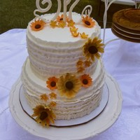 Congratulations Emily & Austin   Piped buttercream ruffles, gumpaste letters and flowers for a rustic bridal shower. TFL