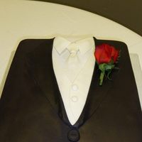 Tuxedo Groom's Cake For Tim