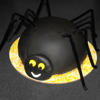 "Spider 6"" white cake with buttercream and fondant"