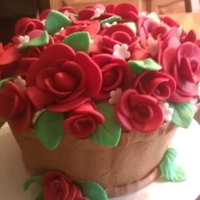 Flower Pot buttercream with fondant roses