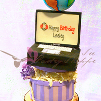 Lesley  This cake showcased the birthday girl's life. She's a world traveler who loves hats and the color lavender. She also is a...