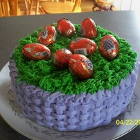 Easter Cake   Chocolate cake with strawberry filling.........