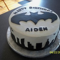 Batman Cake   Vanilla butter cake with Mocha filling........