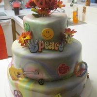 Peace Tyedye Birthday Cake my daughters 11 th birthday cake.. she loves the peace theme