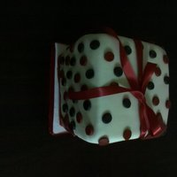 Red Black And White Polka Dot Present My daughter needed a cake to take to school so this is what I came up with...something simple that doesnt take much effort and time!