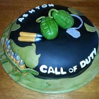 Call Of Duty Cake With Fondant *Call of Duty Cake with fondant