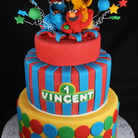 Sesame Street Themed Birthday Cake