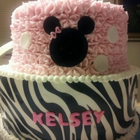 Minnie And Zebra my 1st time using Wilton's sugar sheets (I was in a hurry)