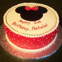 For A Little Friends Minnie Themed Party Scratch Red Velvet Cake With Buttercream For a little friend's Minnie-themed party. Scratch red velvet cake with buttercream.