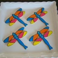 Dragonfly Cookies Made for favors at a charity luncheon. Scratch sugar cookies with glace.