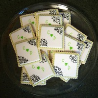 Wedding Shower For a wedding shower. They matched the invitations. Scratch sugar cookies with glace.