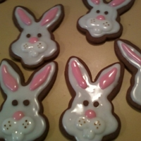 Easter Bunny Cookies Chocolate cookies...I loved these...