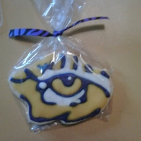 Tiger Eye Cookies Since I live in Louisiana and I am a die hard Tiger fan, this cookie is exactly what the doctor ordered!