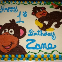 Monkey Cake For Zane