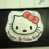 Hello Kitty simple Hello Kitty cake I made for my daughters 6th Birthday