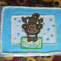 Monkey Baby Shower Cake monkey baby shower cake