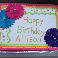Colorful Daisy Birthday Cake colorful daisy birthday cake