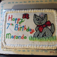 Kitty Cat Birthday Cake kitty cat birthday cake