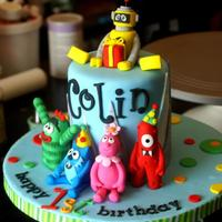 Yo Gabba Gabba Another Yo Gabba gabba smash cake!